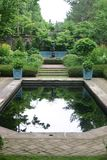 Water feature in a garden royalty free stock images