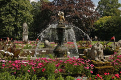 A Water Feature at Lichfield. This water feature is in a park in Lichfield Staffordshire, England Stock Images