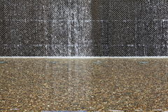 Water Feature wall stock image