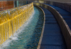 Water feature at Yerba Buena Gardens Stock Photography