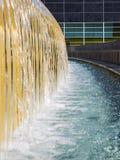 Water feature at Yerba Buena Gardens. City plaza in San Francisco, California Stock Photos