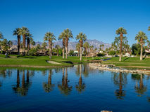 Water features at a golf course at the JW Marriott Desert Springs Stock Photography