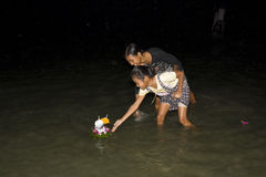 Water festival Loy Krathong Stock Photography