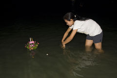 Water festival Loy Krathong Royalty Free Stock Photo