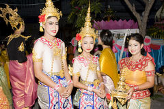 Water festival Loy Krathong Royalty Free Stock Images
