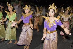 Water festival Loy Krathong Royalty Free Stock Photography