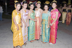 Water festival Loy Krathong Stock Photo