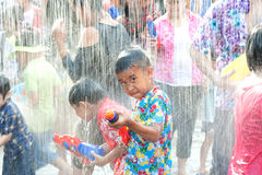 Water festival in Thailand. Royalty Free Stock Images