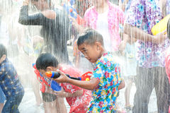 Water festival in Thailand. Royalty Free Stock Photo