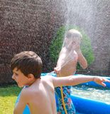 Water fight fun Stock Photography