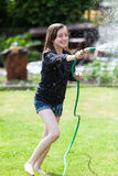 Water Fight stock image