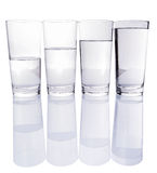Water Filled Glasses II Stock Photography