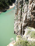 Water filled gorge Royalty Free Stock Photos