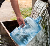 Water filling station stock image