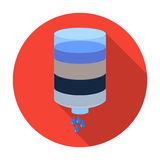 Water filter cartridge icon in flat style isolated on white background. Water filtration system symbol stock vector Stock Photography