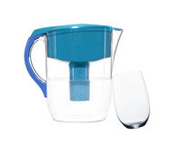 Water filter with glass isolated Stock Images