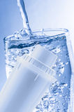 Water filter and glass Stock Photos