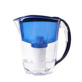 Water filter pitcher isolated Royalty Free Stock Images