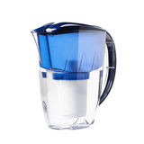 Water filter pitcher isolated Royalty Free Stock Image