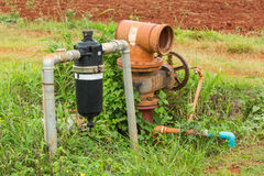 Water filter and valve Stock Image