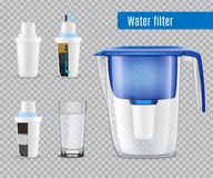 Water Filters Realistic Transparent Stock Illustration