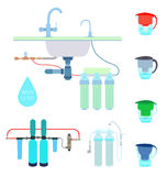 Water filters set Stock Images