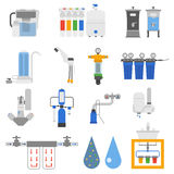 Water filters vector set. Stock Image