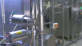 Water filtrartion system at a water purification plant. stock video
