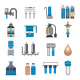 Water filtration icons vector illustration. Stock Images