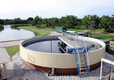 Water filtration plant royalty free stock photos