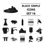 Big collection of water filtration system vector symbol stock. Water filtration system set icons in black design. Big collection of water filtration system Royalty Free Stock Images