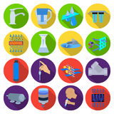 Water filtration system set icons in flat style. Big collection of water filtration system vector symbol stock Stock Images