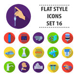 Water filtration system set icons in flat style. Big collection of water filtration system vector symbol stock. Water filtration system set icons in flat design Royalty Free Stock Photography