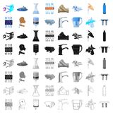 Water filtration system set. Water filtration system set icons in cartoon design. Big collection of water filtration system vector symbol stock illustration Royalty Free Stock Photos