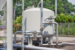 Water filtration systems in industrial plants Royalty Free Stock Image