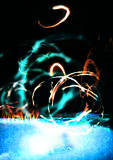Water & fire. Imagination  with a combination of photoshop effects Stock Image
