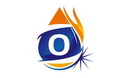 Water Fire Flame Gas Oil Initial O. Logo vector illustration, can be used for any purpose Royalty Free Stock Photos