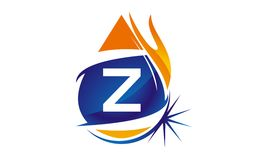 Water Fire Flame Gas Oil Initial Z. Logo vector illustration, can be used for any purpose Stock Photography