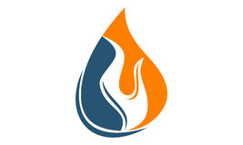 Water Fire Flame Gas Oil. Logo vector illustration, can be used for any purpose Stock Photography