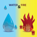 Water and fire icons eps10 Stock Images