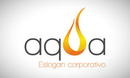 Water and fire - logo Royalty Free Stock Photography