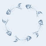 Water Fishbone Circle stock image