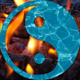 Water and Flames in a Yin and Yang Royalty Free Stock Photo