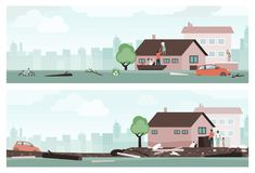 Water flood emergency royalty free illustration