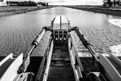Water flood-gate perspective view, Mont Saint-Michel. France Stock Photography
