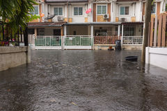 Water flood village Stock Images