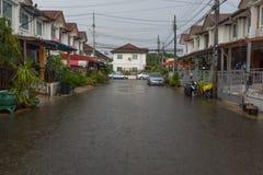 Water flood village Stock Image
