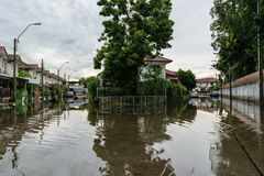 Water flood village Stock Image