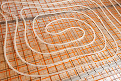 Water floor heating Stock Image