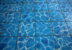 Water floor tile. Floor tile with grout that looks like water Royalty Free Stock Image